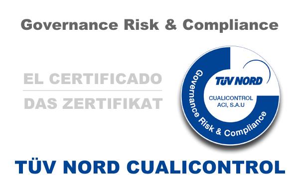Certificado Sistema de Gestión TÜV NORD-Cualicontrol