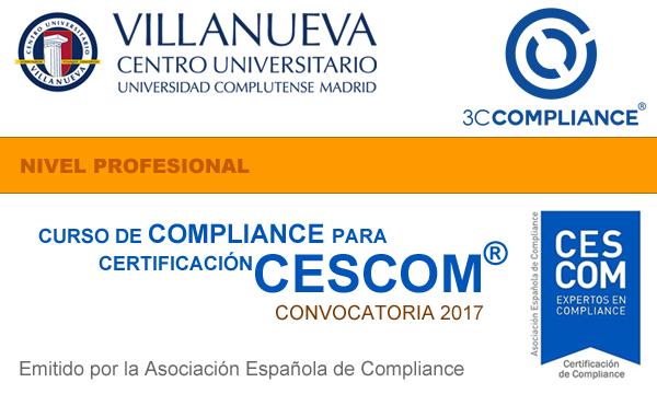 Curso de Compliance para Certificación CESCOM®