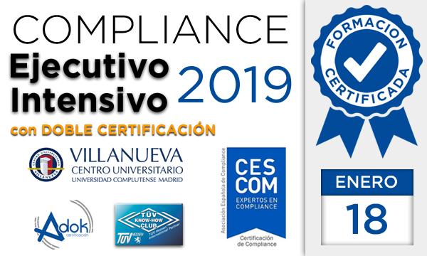 Curso Ejecutivo Intensivo de Compliance para CESCOM® y Adok TÜV HESSEN 2019